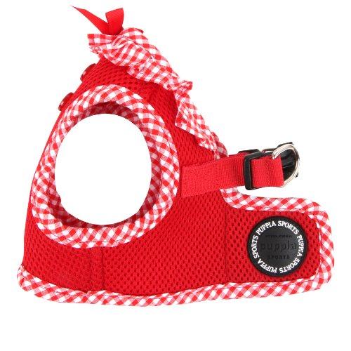 Puppia Authentic Vivien Vest Harness B, Large, Red