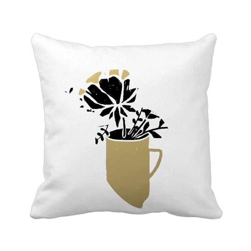 慣性コールド反対に花瓶の金の引用の葉 パイナップル枕カバー正方形を投げる 50cm x 50cm