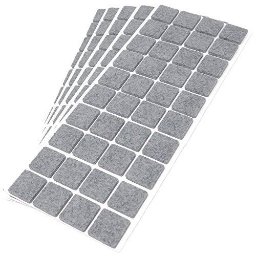 Adsamm®   200 x Filzgleiter / 25x25 mm/Grau/quadratisch / 3.5 mm starke selbstklebende Filz-Möbelgleiter in Top-Qualität