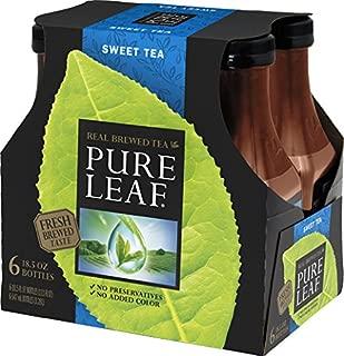Pure Leaf Iced Tea, Sweet Tea, Black Tea, 18.5 oz (Pack of 6)