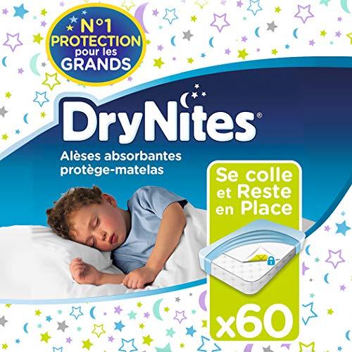 Huggies Drynites - Protector de colchón (78 x 88 cm, 60 unidades)
