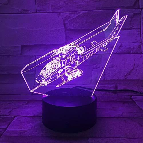 Hancoc Lámpara de escritorio 3D Luz de la noche Estéreo Luz Colorida Control Remoto Bluetooth Audio Dormitorio Pequeña Lámpara de Escritorio