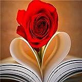 Rompecabezas De 1000 Piezas para Adultos Y Niños,Flor Color De Rosa Y Libro 4Fg182,Rompecabezas De Madera De Calidad Juegos Educativos Decoración del Hogar Rompecabezas DIY.