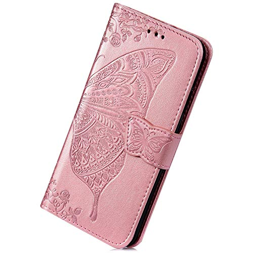 Best Deals! Herbests Compatible with Samsung Galaxy S8 Wallet Case Slim Folio Leather Cover 3D Butte...
