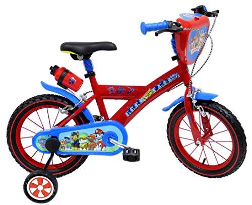 Paw Patrol–Bicicletta da Bambino, Bambini, Pat' Patrouille, Rosso/Blu, 16'
