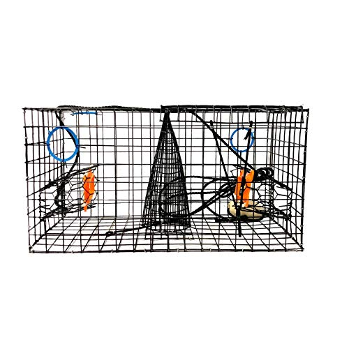 Joy Fish Maryland Blue Crab Pot Trap, PVC Coated Wire mesh, Heavy Duty, Two T.E.D. (Turtle Excluder Device), Two Escape Rings, Float, Rope, Ready for use,