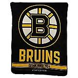 NHL'Breakaway' Super Soft Plush Throw Blanket (Boston Bruins)