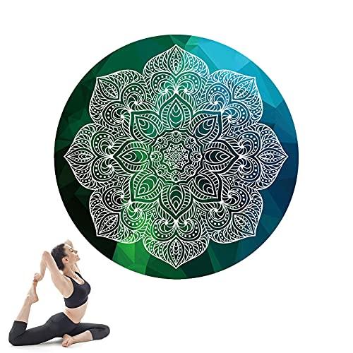 Esterilla Yoga, Yoga Mat diseñado para Entrenamiento físico, No tóxico, Antideslizante, para Pilates,Fitness, 140cm*140cm*3.5mm Portátil/Null