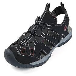 in budget affordable Northside Men's Burke II Sport Sandals, Black / Red, 13 M US
