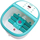 Foot Spa Bath Massager with Heat - Feet Soaking Tub Features 6 Shiatsu Massage Rollers, Rotting Callus Remover, Adjustable Time & Temperature - Stress Relief for Fatigue and Tired Feet