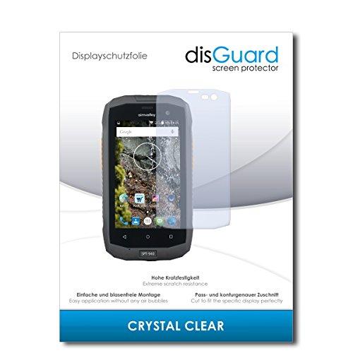 disGuard® Bildschirmschutzfolie [Crystal Clear] kompatibel mit Simvalley Mobile SPT-940 [2 Stück] Kristallklar, Transparent, Unsichtbar, Extrem Kratzfest, Anti-Fingerabdruck - Schutzfolie