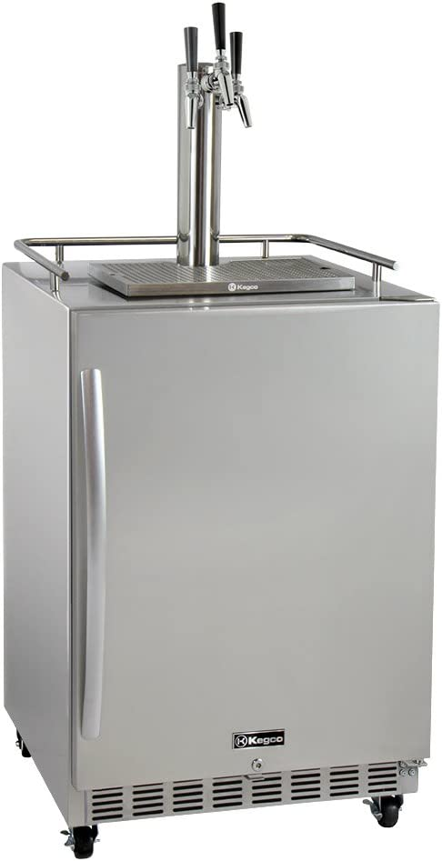 Kegco HK38SSC-3 3-Tap Commercial Outdoor D Kegerator OFFicial site w Built-In New product!!