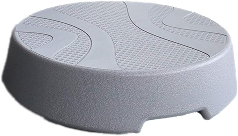 耐久性のあるラウンドエアロビクスステップジムエクササイズステッパーホームヨガプラットフォームステッパーボード10.5 Cmの高さ -オフィスおよびホームフィットネス (色 : グレー, サイズ : Dia 46.5cm)