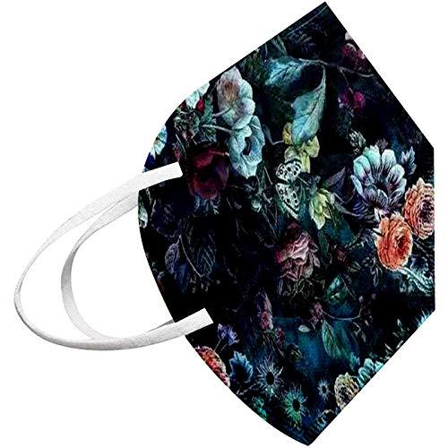 YOYIK 50pc Adulto Schutz_Maske_Mαscαrillαs_𝓷95 Desechables con Pr0tección 3Capas Transpirables con Elástico de Estampado floral