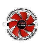 Mars Gaming MCPU1V2 - Disipador CPU (PWM, 90 mm, Perfil bajo y Soporte hidráulico) Color Rojo
