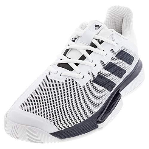 adidas SoleMatch Bounce - Boca para Hombre, Color Blanco, Blanco y Negro, Color, Talla 46 EU