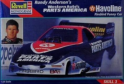 Revell Monogram 7649 Randy Anderson's Western Auto's Parts America Havoline Firebird Funny Car - Plastic Model Kit - 1:24 Scale - Skill Level 3