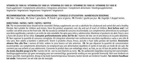 Vitamaze® Vitamina D3 Gocce 1000 UI, 50 ml (1750 Gocce) Alto Dosaggio, Colecalciferolo vegetariano, Alta Biodisponibilità, Qualità Tedesca, Naturale Pura Integratore senza Additivi non Necessari