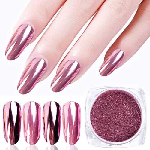 SRTYH Poudre à ongles,Nail Glitter Poudre Magic Mirror Aurora Effect Dip Pigments Manucure Polishing Pearl Dust Nail Decor 0.2g N