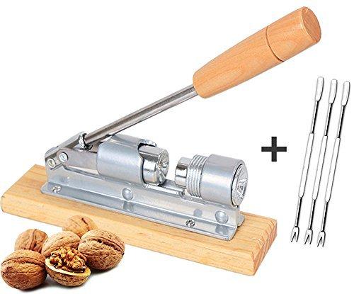 PerriRock Heavy Duty Pecan Nut Walnut Cracker/Opener tools with 3 Picks & Easy Cleaning