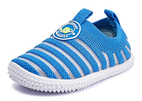 Baby Shoes Boy Girl Infant Sneakers Non-Slip First Walkers 6 9 12 18 24 Months Blue Size 12-18 Months Infant