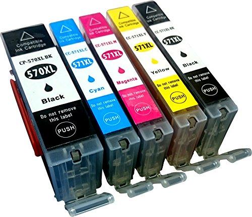 5 kompatible YouPrint Druckerpatronen für Canon Pixma MG5750, MG5751, MG6850, MG7750, MG5750, MG5751, MG5752, MG5753, MG6850, MG6851, MG6852, MG7750, MG7751, TS5050, TS5051, TS5053, TS5055, TS6050, TS6051, TS6052, TS8050, TS8051, TS8052, TS8053, TS9050, TS9055 Ersetzen PGI-570BK XL, CLI-571C XL, CLI-571M XL, CLI-571Y XL Und CLI-571BK XL Mit Chip