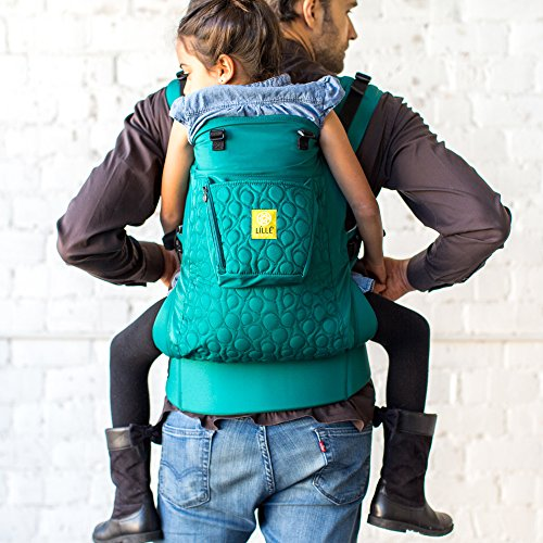 LÍLLÉbaby CarryOn Embossed 3-in-1 Ergonomic Toddler & Child Carrier, Emerald - 20 to 60 lbs