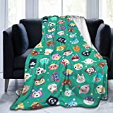 PANMEILI Anim-al Cro-ssing Blanket Super Soft Fleece Throw Blankets for Living Room Bedding Sofa Bedroom Blankets Decor Medium 60x50 in for Teens