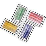 Portaobjetos de plástico para microscopio para niños, 48 piezas animales insectos plantas flores...
