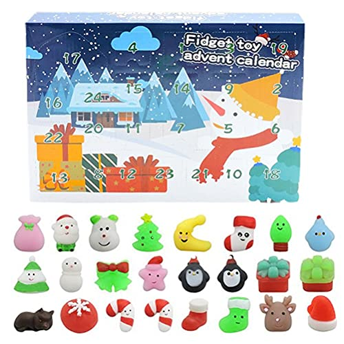 Calendario de Adviento de Feliz Navidad, 2021 Fidget Calendario de Adviento Juego de juguetes de 24 días de Navidad con calendario de cuenta regresiva Juguetes sensoriales Fidget Juguetes Pack