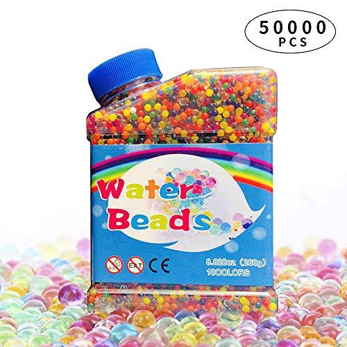 50,000 PCS Bolas Gel Agua Perlas Agua Perlas Gel Colores