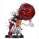 Xungzl ONE Piece GK Gear Fourth Big Hand Monkey D. Luffy Ape Gun 25cm PVC Anime Cartoon Game Character Model Statue Figure Toy Collectibles Decorations Gifts Favorite by Anime Fan