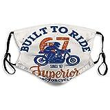 Mundschutz Waschbar Wiederverwendbarer Mundschutz Überlegener Motorradfahrer handgemachter Schriftzug c Fashion Shield