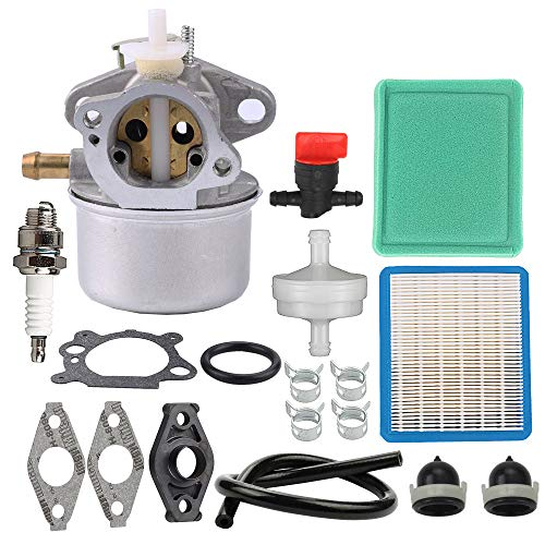 Powtol 799869 499059 Carburetor for 792253 497586 Engines with 491588S 491588 Air Filter Tune Up Kit