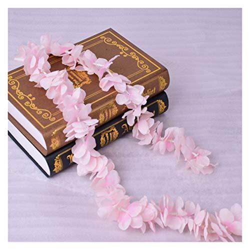 Gzjdtkj Künstliche Blumen 100 cm künstliche Kirschblütenrebe Seide Blumen Sakura für Party Hochzeit Decke Dekor Gefälschte Girlande Efeu DIY Party Dekor (Color : Pink)