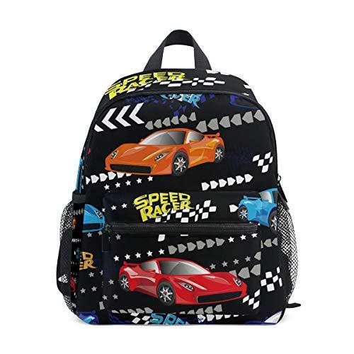 Rucksack für Kleinkinder, Rennwagen, Schultasche, niedlich, für Schule, Jungen und Mädchen, Kindertaschen, Reisen, Tagesrucksack, 3–8 Jahre alte Vorschule
