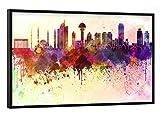 artboxONE Poster mit schwarzem Rahmen 30x20 cm Städte