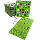 Regal Games Jumbo Finger-Tip Shutter Slide Card Bingo Set with Master Board and Calling Cards, Green, 25 Jumbo Shutter Slide Cards