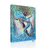 ART-HDeck Cuadro 40x60cm Árbol de la Fortuna Impresión en Lienzo Impresion en Calidad Fotografica Arte Moderno de la Pared de la Sala de Estar Listo para Colgar