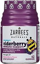 Zarbee's Naturals Children's Elderberry Immune Support* with Vitamin C & Zinc, Natural Berry Flavor, 42 Gummies