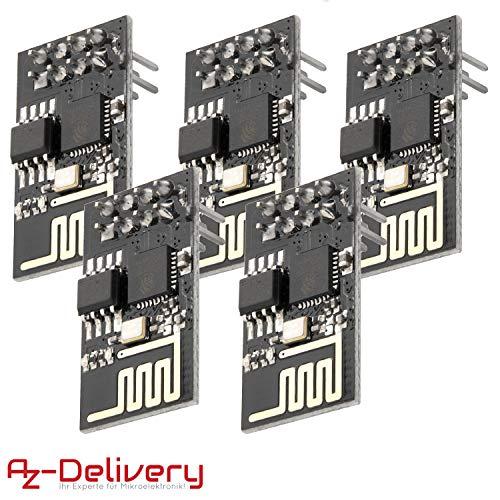 AZDelivery 5 x Esp8266 ESP-01S Módulo Wi-Fi/WiFi