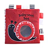 Wood.L Stoffbuch Für Babys, Baby Soft Bilderbuch Tuchbuch Badebuch Babybuch Stoffbuch Baby Spielzeug Pädagogisches Spielzeug Geschenk Für Kleinkinder Kinder