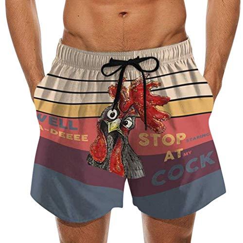 Pantalones cortos de natación para hombre, pantalones de playa, natación, impermeables, para surf, diseño de mirar a mi pecker