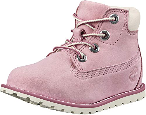 Timberland Unisex-Kinder Pokey Pine 6In Boot with Side Zip Klassische Stiefel, (Pink Nectar Nubuck), 28 EU