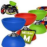 Mister M ✓ Set de Ultime Diabolo ✓ Baguettes en Aluminum et Ficelle ✓ Vidéo Professionnelle (Online) d'instructions