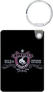Aluminum Photo Keychain (2-Sided) Cowgirl Country Wild and Untamed