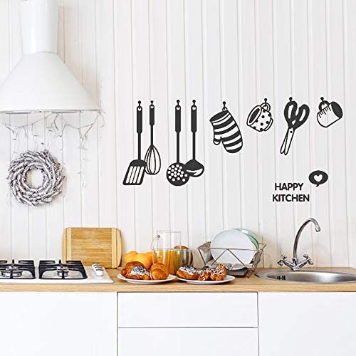 Rotumaty DIY Cooking Utensil Wall Stickers Removable Kitchen Dining Room Wall Decal Vinyl Home product image