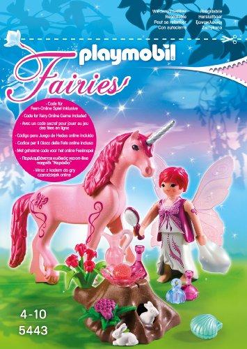 Playmobil 5443 - Pflege-Fee mit Einhorn, Rosenrot