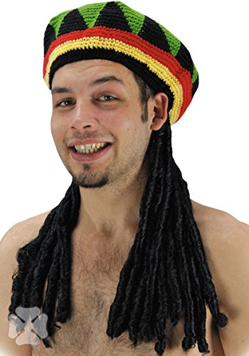 Perruque RASTA Bonnet Adulte - Jamaique BOB MARLEY - Synthetique - 5775