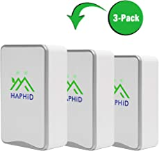 Negative Ion Generator HAPHID Pluggable Air Purifier with Highest Output - Up to 32 Million Negative Ions/Sec, Filterless Mobile Ionizer & Portable Purifier Clean:Allergens,Pollutants,Odors (3 Pack)